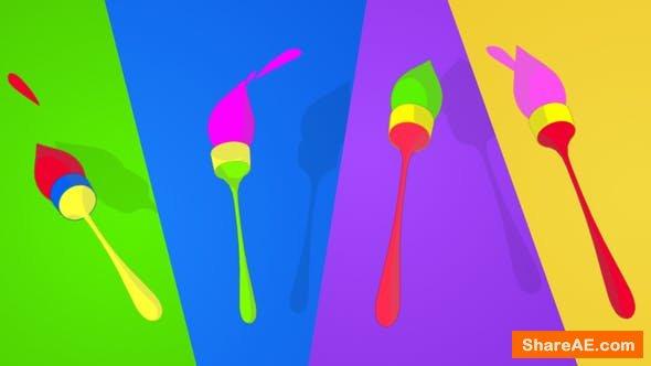 Videohive Playful Brush logo