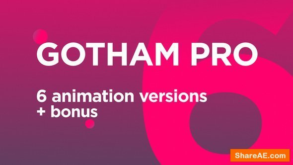 Videohive Gotham Pro Font Animation