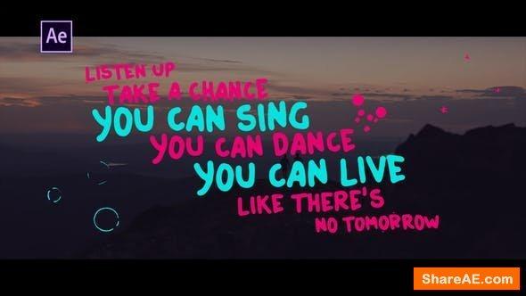 Videohive Lyrics Template | Hand Drawn Style
