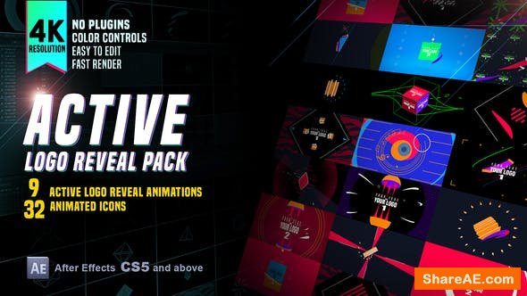 Videohive Active Logo Reveal Pack