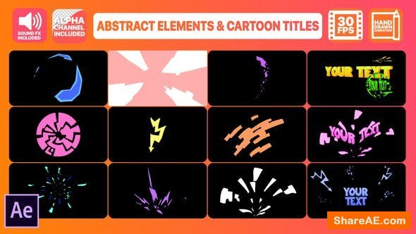 Videohive Abstract Shapes And Cartoon Titles | After Effects