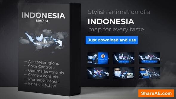 Videohive Indonesia Map - Republic of Indonesia Map Kit