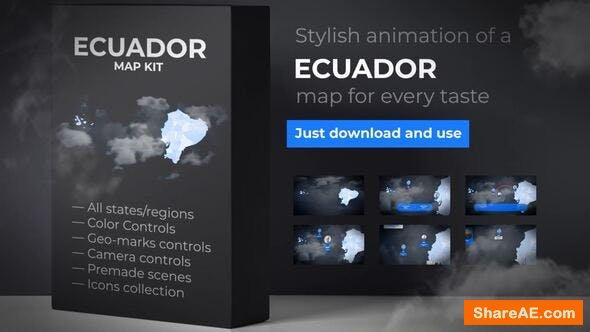 Videohive Ecuador Map - Republic of Ecuador Map Kit