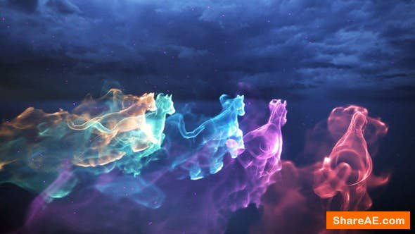 Videohive Horse Particle Trails Logo