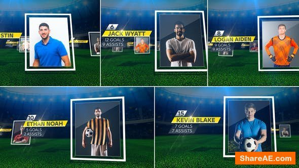 Videohive Soccer Starting Lineup