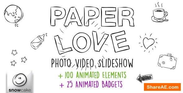 Videohive Paper Love Photo Video Slideshow