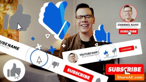 Videohive Youtube Subscribe Pack 2