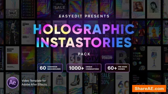 Videohive Holographic InstaStories Pack
