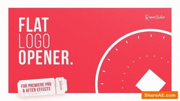 Videohive Flat Logo Opener 22258827 - Premiere Pro