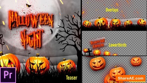 Videohive Halloween Teaser Promo Pack - Premiere Pro