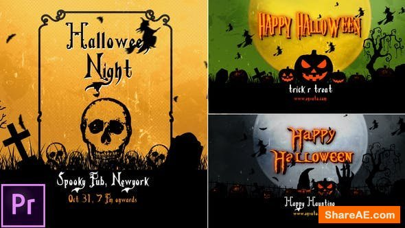 Videohive Halloween Openers - Premiere Pro