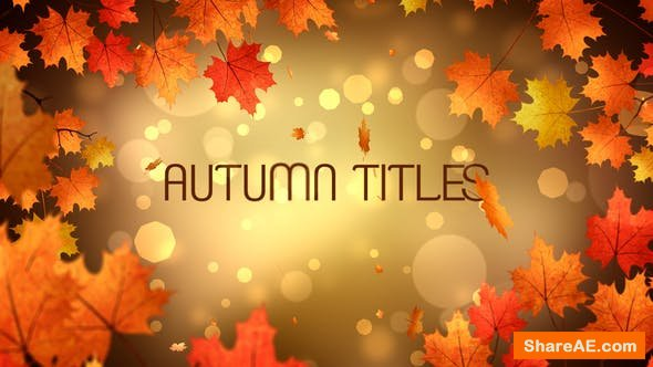 Videohive Autumn Titles 24779626