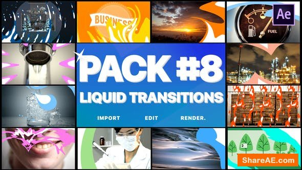 Videohive Liquid Transitions Pack 08   After Effects
