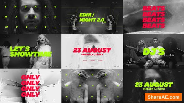 Videohive Music Event Promo / Dynamic Opener / Party Invitation / EDM Festival / Night Club