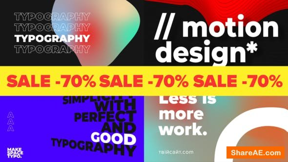 Videohive Giant Typography
