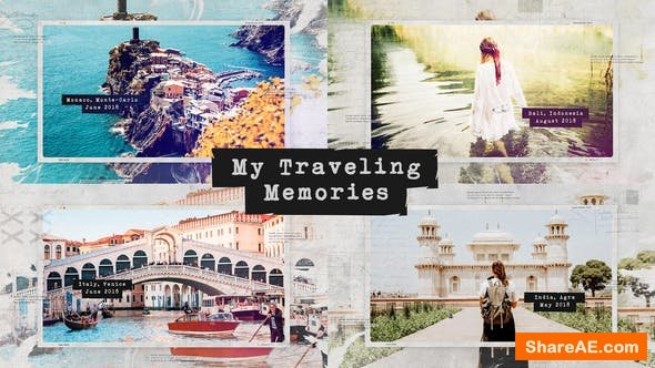 Videohive Traveling Memories / Journey Photo Album / Family and Friends / Adventure Slideshow