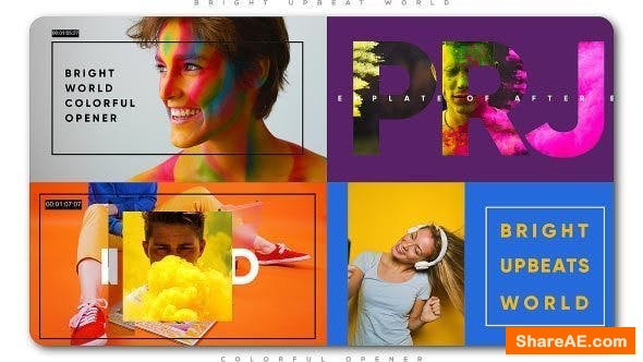 Videohive Bright Upbeat World Colorful Opener