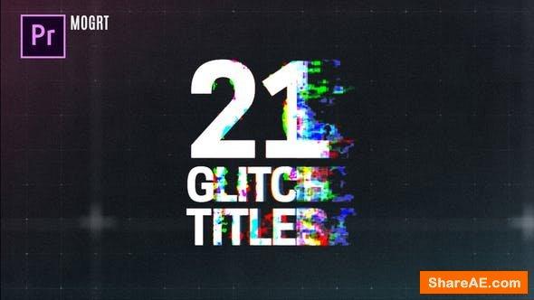 Videohive Glitch Titles 23383086 - Premiere Pro