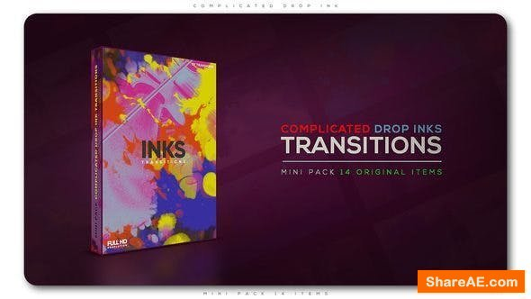 Videohive Complicated Drop Ink Transition Pack