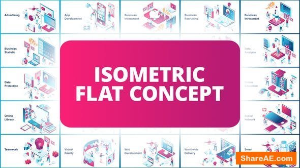 Videohive Isometric Flat Concept