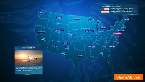 Videohive Broadcast Maps Package 20206250