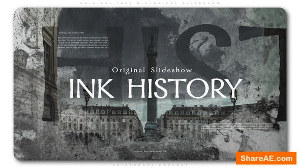 Videohive Original Inks Historical Slideshow