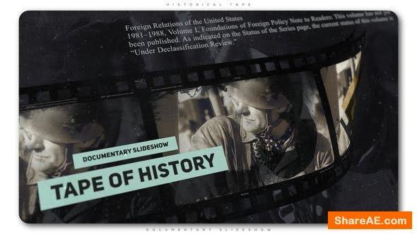 Videohive Historical Tape Documentary Slideshow