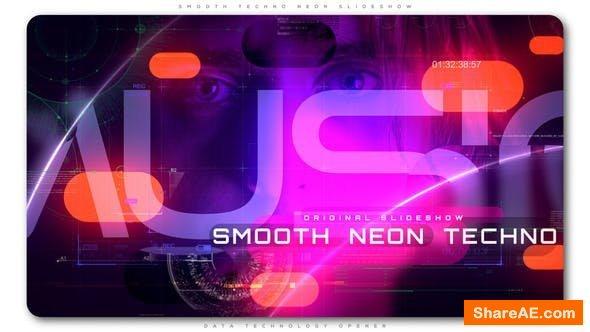 Videohive Smooth Techno Neon Slideshow