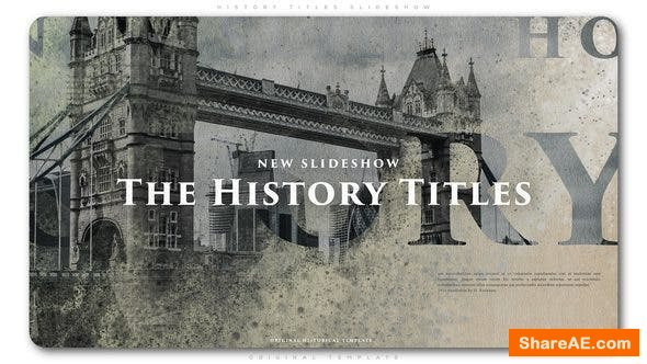 Videohive History Titles Slideshow