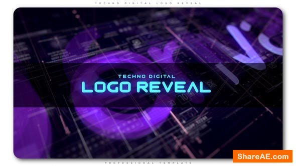 Videohive Techno Digital Logo Reveal