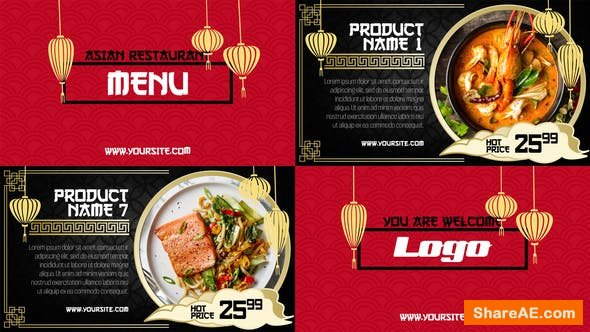 Videohive Asian Menu - Restaurant Promo