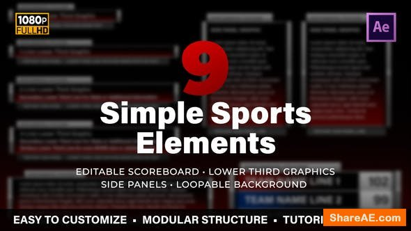 Videohive Simple Sports Elements Kit
