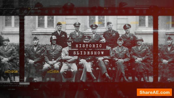 Videohive Historic Chronicle Slideshow / World War / Old Vintage Memories / Retro Photo Album