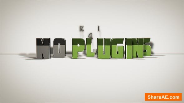 Videohive 3D Text Opener