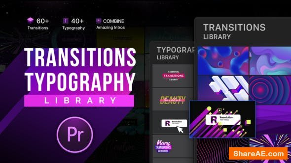 Videohive Essential Transitions & Typography | MOGRT - Premiere Pro