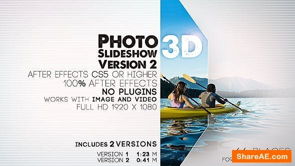 Videohive Photo Slideshow 3D Version 2