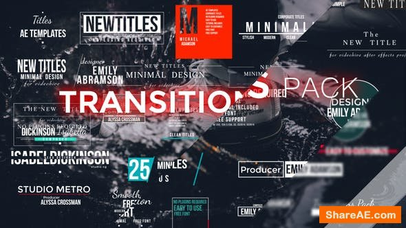 Videohive Transitions Pack 22140213