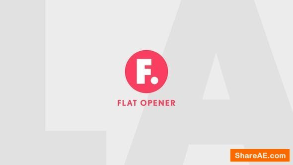 Videohive Flat Opener 23578255