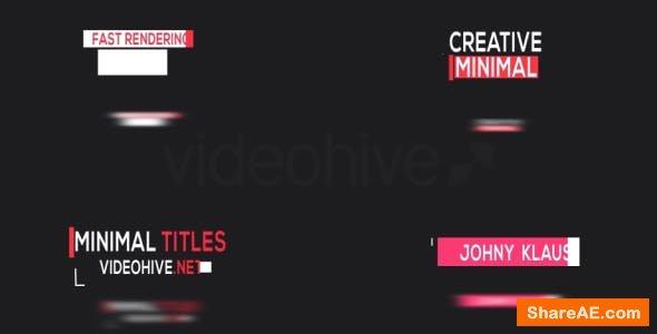 Videohive 20 Minimal Titles 17222097