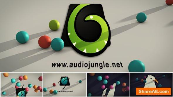 Videohive Falling Balls Logo