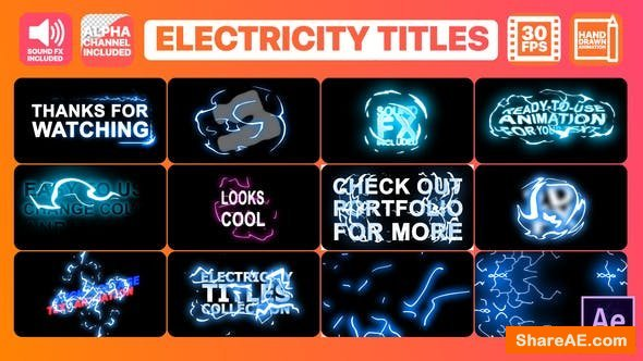 Videohive Electricity Titles Collection | After Effects
