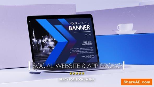 Videohive Social Website Promo & App Promo
