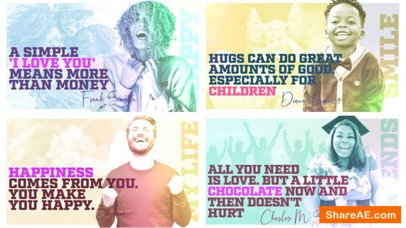 Videohive Happy People - Quote Slideshow
