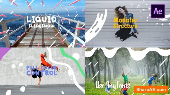 Videohive Colorful Liquid Slideshow
