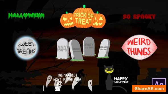 Videohive Halloween Titles | After Effects