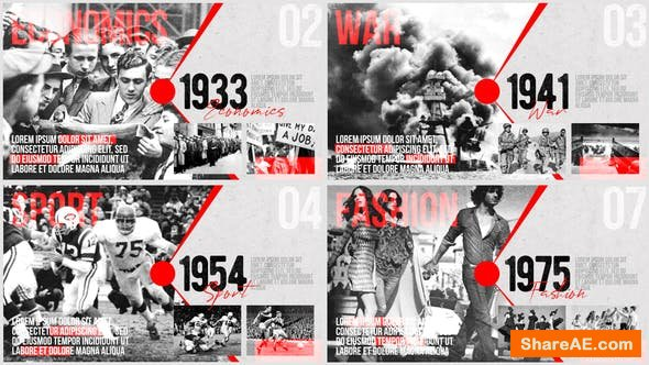Videohive Moments of History - Timeline of Events