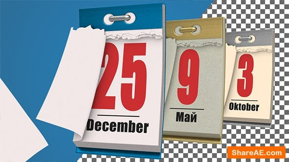 Videohive Universal Calendar