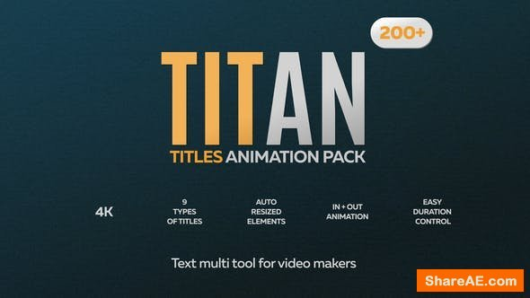 Videohive Titan Titles Animation Pack