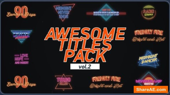 Videohive Awesome Title Pack 2