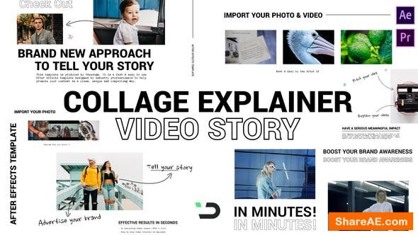 Videohive Collage Explainer Video Story